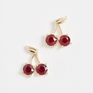 Established 18k Cherry Stud Earrings